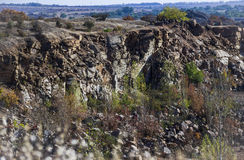 Deep unused stone quarry Stock Image