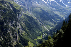 Deep valley of Lauterbrunnen Royalty Free Stock Images