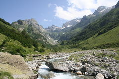 Deep valley of Mount Colomb, Maritime Alps, Entracque (27th July 2014). Royalty Free Stock Photo