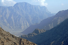 Deep valley on the Musandam peninsula Stock Photo