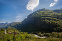Deep valley near the port of Flam in Norway Royalty Free Stock Images