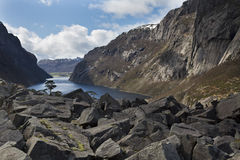 Deep valley in norway Royalty Free Stock Images