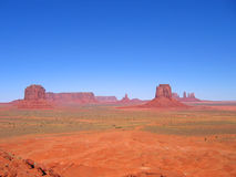 Deep view and clear sky. Deep view and clear athmosphere - Monument Valley National Park - United States Stock Photos