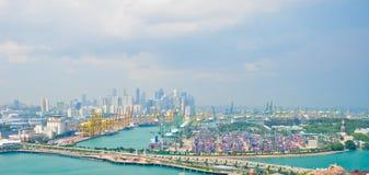 Deep-water port. Singapore, April 24,2011 Stock Photography