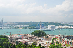 Deep-water port. Singapore, April 24,2011 Royalty Free Stock Photography