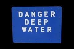 Deep water sign royalty free stock photos