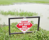 Deep Water Sign Stock Photos