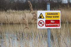 Deep water sign Royalty Free Stock Image