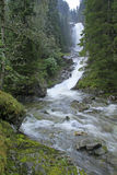 Deep waterfall. Waterfall after heavy rain in Granvin, Hardanger, Norway Royalty Free Stock Photos