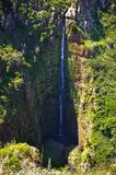Deep waterfall near Ponta do Pargo, Madeira, Portugal Stock Photography