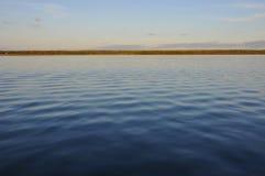 Deep waters of Rybinsk reservoir, Yaroslavl region, Russia Royalty Free Stock Images