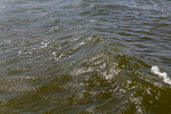 Deep and wavy waters. Wavy waters of Baltic sea that can be seen close to seashore during windy day in Kolobrzeg in Poland Stock Photography