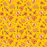 Deep yellow floral pattern Royalty Free Stock Image