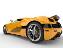 Deep yellow futuristic sport concept car Stock Images