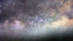 Deep zoom into the galaxy. Cosmic flight to a distant star in the depths of Milky Way galaxy stock video