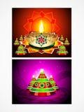 Deepak diwali tła set Fotografia Stock