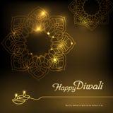 Deepavali festival design stock illustration