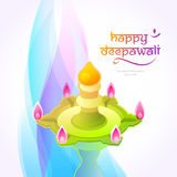 Deepavali festival design Stock Photos