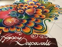 Deepavali kolam. Deepavali  kolam decoration  in a shopping centre, during deepavali festival Royalty Free Stock Image