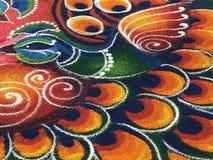 Deepavali kolam. Deepavali  kolam decoration  in a shopping centre, during deepavali festival Stock Photo