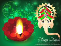 Deepawali Background with ganesha Royalty Free Stock Image