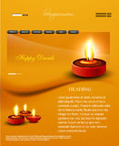 Deepawali diwali diya website template presentatio. N bright colorful design royalty free illustration
