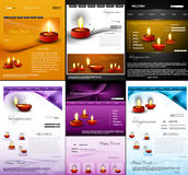 Deepawali diwali diya website template  presentati Stock Images