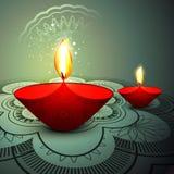 Deepawali festival colorful background. Illustration Royalty Free Stock Images