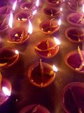 Deepawali oljd lampa royaltyfria bilder