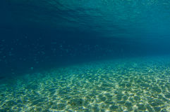 Deepening Underwater Slope IV. Shallow water slope as the water gets deeper Royalty Free Stock Images