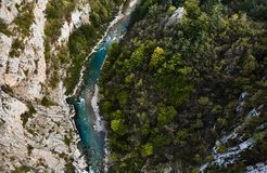 The deepest canyon in Europe. Tara river canyon. Montenegro. Summer royalty free stock photo