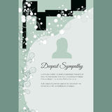 Deepest Sympathy vector lettering in abstract style, place for text and photo Royalty Free Stock Photography