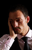 Deeply depressed business man Royalty Free Stock Image