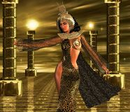 Deeply Desired, Egyptian Blessings. An Egyptian sovereign uses her alluring powers to command the gods of the sun to bestow their blessings upon her people Stock Photo