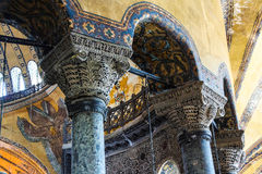 Deeply undercut Corinthian columns Royalty Free Stock Image