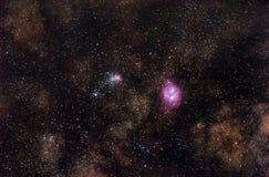 The deeps of Milky Way Stock Photo
