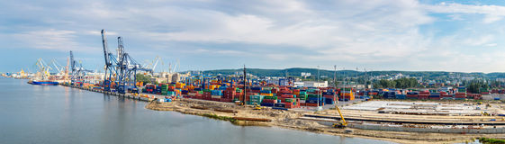 Deepwater Container Terminal in Gdansk Stock Photo