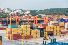 Deepwater Container Terminal in Gdansk Stock Images