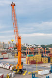 Deepwater Container Terminal in Gdansk Royalty Free Stock Photos