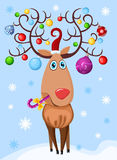 Deer. Vector illustration of a christmas deer Royalty Free Stock Photography
