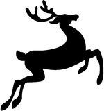 Deer. Black silhouette of a deer, isolated. Vector illustration Royalty Free Stock Image