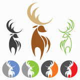 Deer. Vector illustration of deer in various color Royalty Free Stock Photos
