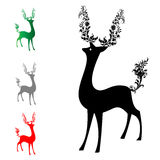 Deer. He and tail deer adorned with a bouquet of flowers Royalty Free Stock Photos