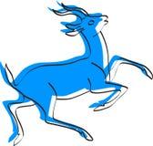 Deer. Vector silhouette of a deer vector illustration