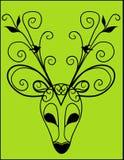 Deer Antler Silhouette. Vector Illustration of Artistic Deer Antler Silhouette Mask stock illustration