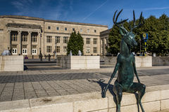 Deer With Antlers Statue - Columbus, Ohio royalty free stock images