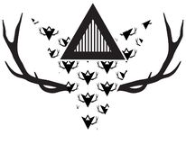 Triangle Antlers stock illustration
