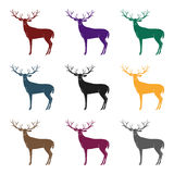 Deer with big horns.Animals single icon in black style vector symbol stock illustration web. Deer with big horns.Animals single icon in black style vector Stock Image