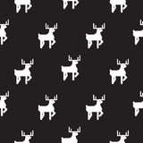 Deer black and white kid silhouette pattern. Royalty Free Stock Photo