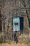 Deer Blind in Woods Stock Photos
